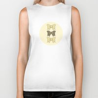 bows Biker Tanks featuring Vintage Bows Part 5 by Ambers Illustration