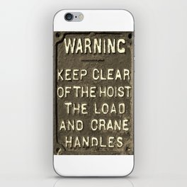 VICTORIAN WARNING SIGN KEEP CLEAR IN SEPIA iPhone Skin