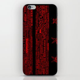 DC Flag Red iPhone Skin