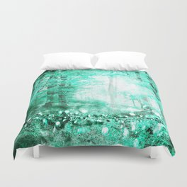 279 3 Turquoise Forest Duvet Cover