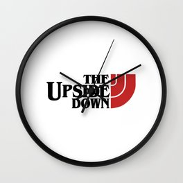 the upside down in black and red Wall Clock