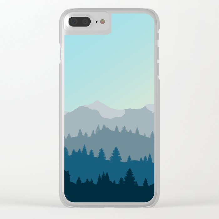 Face This Mountain (No Text) Clear iPhone Case