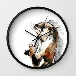 Amblonyx cinereus (watercolor) (c) 2017 Wall Clock
