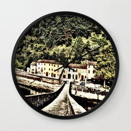 Ponte della Maddalena-Tuscany, Italy Wall Clock