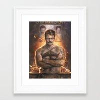 swanson Framed Art Prints featuring Ron ****ing Swanson by Sam Spratt