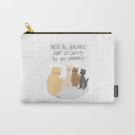 We're All Beautiful Cats Carry-All Pouch