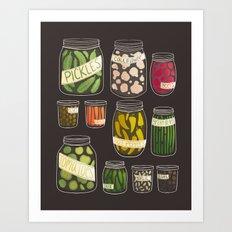 Pickled Art Print