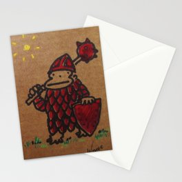 The Red Knight Ape Stationery Cards