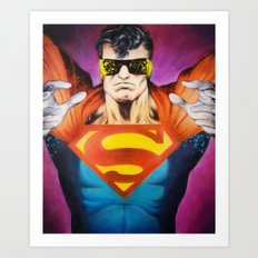 The Eradicator - Superman Art Print