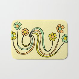 bloom where you are planted // waves and flowers Bath Mat