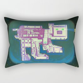 Spatial Bot Dog Rectangular Pillow