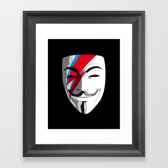 Who wants to be Anonymous? Let's be Fabulous! Viggy Starfawkes. Framed Art Print