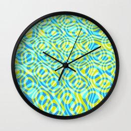 Mixed Polyps Yellow - Coral Reef Series 039 Wall Clock