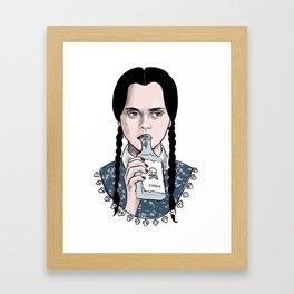 Stay creepy - Wednesday Addams illustration Framed Art Print