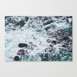 OCEAN - ROCKS - FOAM - SEA - PHOTOGRAPHY - NATURE Canvas Print
