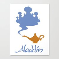 aladdin Canvas Prints featuring Aladdin by Citron Vert