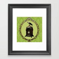 Clock Framed Art Print