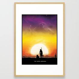 Force Awakens - Rey  Framed Art Print