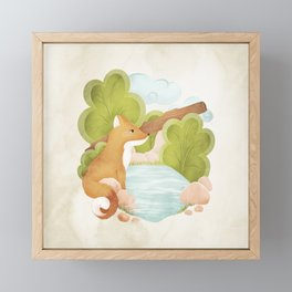 FOREST FOX Framed Mini Art Print