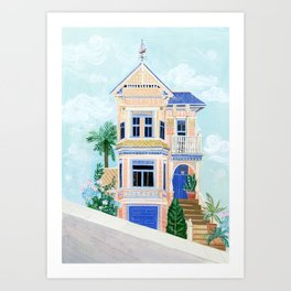 Little Victorian House Art Print