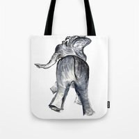 ellie goulding Tote Bags featuring Ellie by Judith Lee Folde Photography & Art
