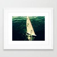 sailboat Framed Art Prints featuring Sailboat by Kazumi