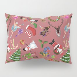 The Elements of Christmas (Pattern) (Red) Pillow Sham