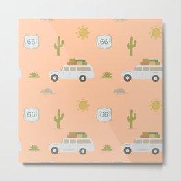 Road Trippin' in Peach Metal Print
