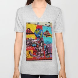From Harlem With Love Civil Rights Mural Photograph Unisex V-Neck