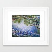 monet Framed Art Prints featuring Missing Monet by Olya Krasavina