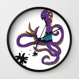 Pulpo asustado Wall Clock