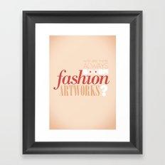 Boobs on fashion. A simple question. Framed Art Print