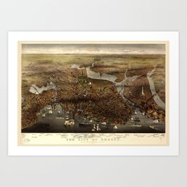 The city of Boston, Massachusetts (1873) Art Print