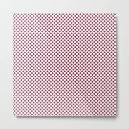 Valentine Polka Dots Metal Print