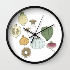 Vegetables (color) Wall Clock