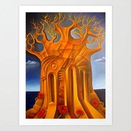 The tree of despair Art Print