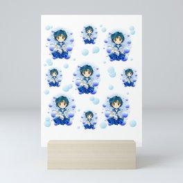 Sailor Mercury Chibi Bubbles Mini Art Print