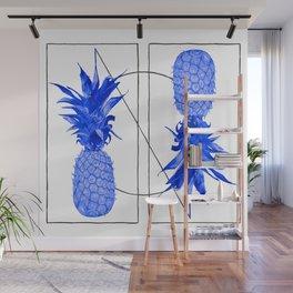 Blue Pineapples design Wall Mural