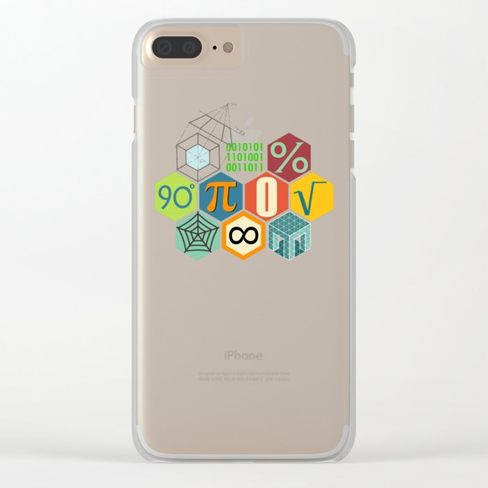 Math in color Clear iPhone Case