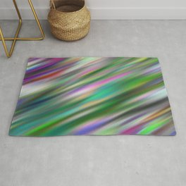 Pastel Flash Abstract Rug