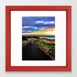 Road to Lighthouse Framed Art Print