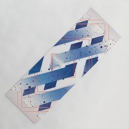 Indigo Hexagon :: Floating Geometry Yoga Mat