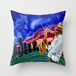 'Trane in the Sky Throw Pillow