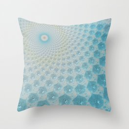 Ice Palace Fractal Art Throw Pillow