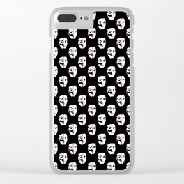We Are The fsociety (RED) Clear iPhone Case