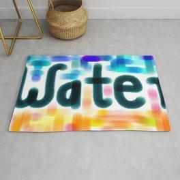 Water Lettering Rug