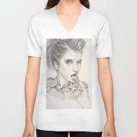 hayley williams V-neck T-shirts featuring Hayley Williams Portrait by AutumnGaurdian