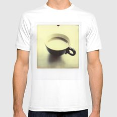 Cup of Coffee White MEDIUM Mens Fitted Tee
