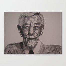 Happy Old Man Canvas Print