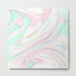 Classy marbleized abstract design Metal Print